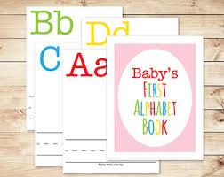 alphabet game baby shower diy abc book 8 5x11 woodland