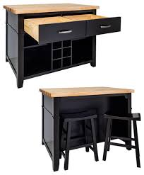 black kitchen island with stools kitchen glamorous kitchen island cart with seating fantastic and