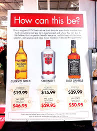 costco u0027s best deals may be in the liquor aisle