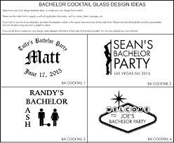 bachelor party gifts personalized cocktail glasses