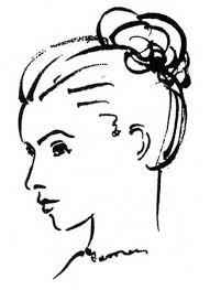 how to draw a head side profile caption woman u0027s face close up