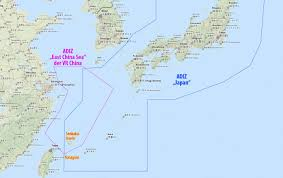 East China Sea Map by Us Japanese Militarism And China U0027s Air Defense Identification Zone
