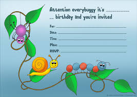 bug birthday party invitations alanarasbach com