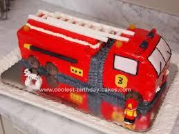 firetruck cakes coolest 3rd birthday truck cake