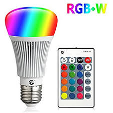 Color Led Light Bulbs Warmoon E26 Led Light Bulb 10w Rgb Color Changing Dimmable Led