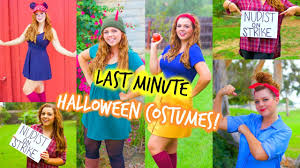ideas for homemade halloween costume last minute halloween costume ideas for teen girls youtube