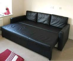 ikea black leather sofa ikea friheten 17 seater black leather sofa bed great condition can