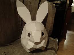 diy halloween mask make your own rabbit mask from cardboard