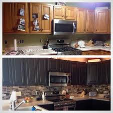 painting kitchen cabinets espresso before and after hearth home honey oak cabinets espresso kitchen