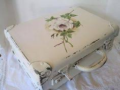 Shabby Chic Projects by Old Suitcase Painted With Chalk Paint This Is Great Because I
