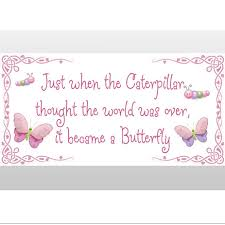 caterpillar became a butterfly quote wall removable vinyl stickers vinyl wall saying quote stickers for kids rooms