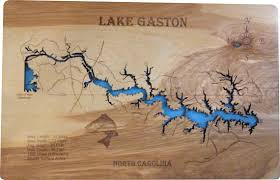 outdoor world lake gaston map wood laser cut map of lake gaston nc topographical engraved