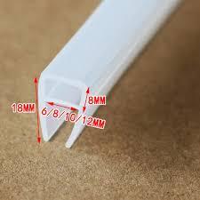 Silicone Shower Door Seal 6 8 10 12mm Glass Collision Avoidance Gasket Sliding Sash Shower