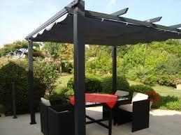 pergola avec toile retractable condate pergola en aluminium avec toile rétractable structure