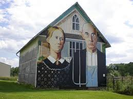 Barn Murals American Gothic Painted On A Barn In Iowa Kitty Sheehan
