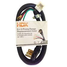 hdx 6 ft 6 8 4 wire range extension cord hd 575 052 the home depot