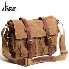 travel bags for men images Akarmy canvas bag men and women 39 s shoulder messenger cross vintage jpg