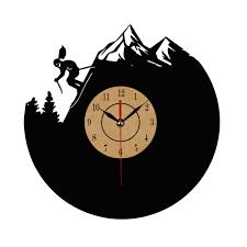 aliexpress com buy cd vinyl record wall clock modern skeleton
