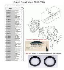 rear axle bearing and or seal replacement u002799 gv suzuki