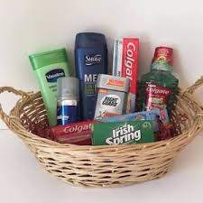 college gift baskets new men s gift basket back to school college workout hygiene