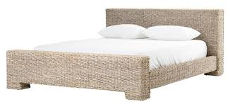 rattan bed contemporary transitional organic beds dering hall