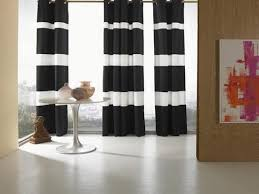 Black And White Striped Curtains Thick Horizontal Striped Curtains Gopelling Net