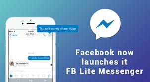Fb Lite Now Launches It Fb Lite Messenger