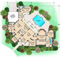 monster home plans luxury style house plans 5108 square foot home 1 story 3 bedroom