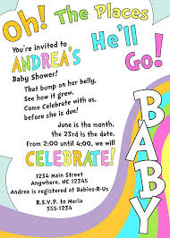 oh baby the places you ll go oh the places you ll go baby shower invitations diabetesmang info