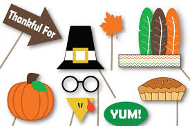 thanksgiving props thanksgiving photo booth props svg cut files dxf png jpeg