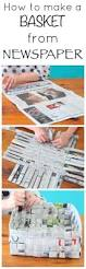 how to make a basket from newspaper super fun activity for kids