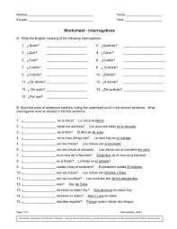 spanish interrogative words lessons tes teach
