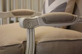 louis u0027 oak u0026 linen upholstered arm chair style my home