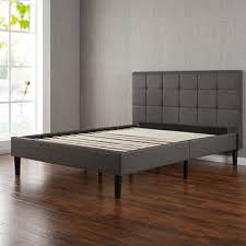 Gray Platform Bed Square Stitched Upholstery Platform Bed Assorted Sizes Sam U0027s Club