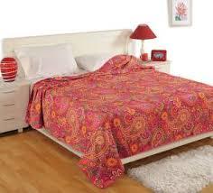 Swayam White N Pink Floral Swayam Blankets Quilts Dohars Buy Swayam Blankets Quilts Dohars
