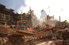 911 Flag Photo 9 11 Ground Zero Damage Overview High Resolution Photos Public