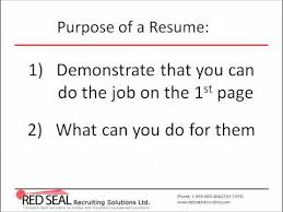 canadian resume how to write a canadian resume part 1 purpose of a resume youtube