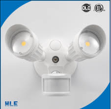 motion sensor halogen security light 20w dual head motion activated led outdoor security light photo