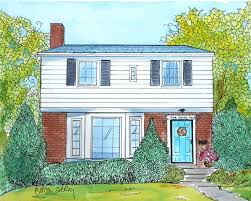 Painting Of House by Custom House Portraits In Watercolor And Ink Or Oil Painting