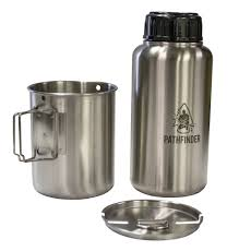 stainless steel containers stainless steel pots pans stainless steel 32 oz widemouth bottle and nesting cup set