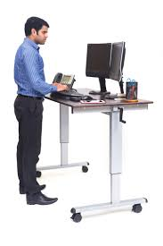 Stand Computer Desk by Luxor Standup Cf60 Dw 60