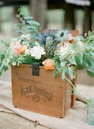 Vintage Centerpieces For Weddings by Wooden Box With Florals As Rustic Centerpiece Rustic