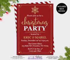 christmas party invitation red gold holiday party invite