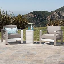 Amazoncom Crested Bay Patio Furniture  Outdoor Aluminum Patio - Outdoor aluminum furniture