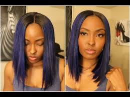 bob hairstyle with part down the middle tutorial full wig on fleek lol chic and sleek middle and side part