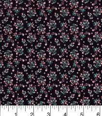 keepsake calico cotton fabric calico floral black joann