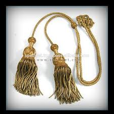 Gold Tassels On American Flag Bullion Wire Tassel With Gold Twisted Cord Decorative Tassels