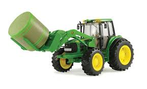 amazon com big farm john deere 7330 vehicle with front bale mover