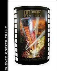 lighted movie poster frame curved movie poster frame