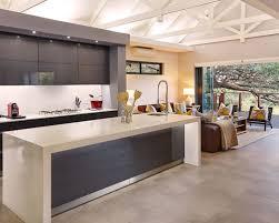 waterfall kitchen island houzz